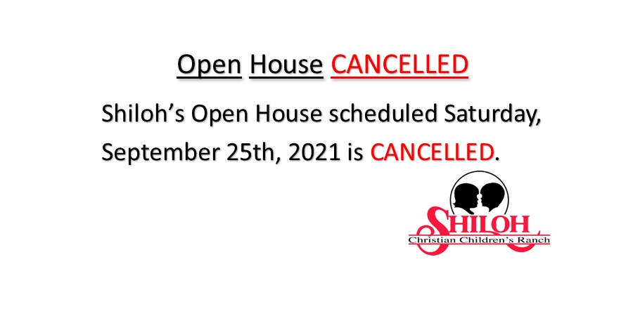 Open House Cancelled